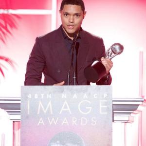 """Trevor Noah received 2 NAACP Image Awards for his book """"Born A Crime"""""""